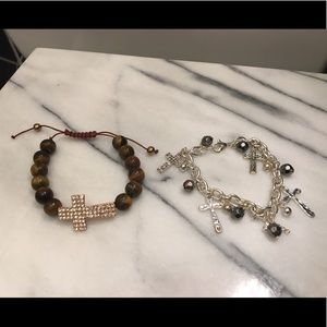 Gorgeous cross statement bracelets